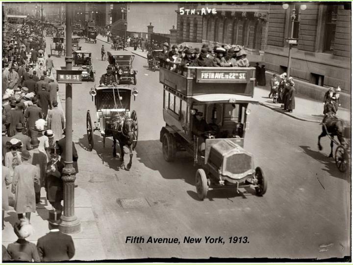 Fifth Avenue, New York, 1913.