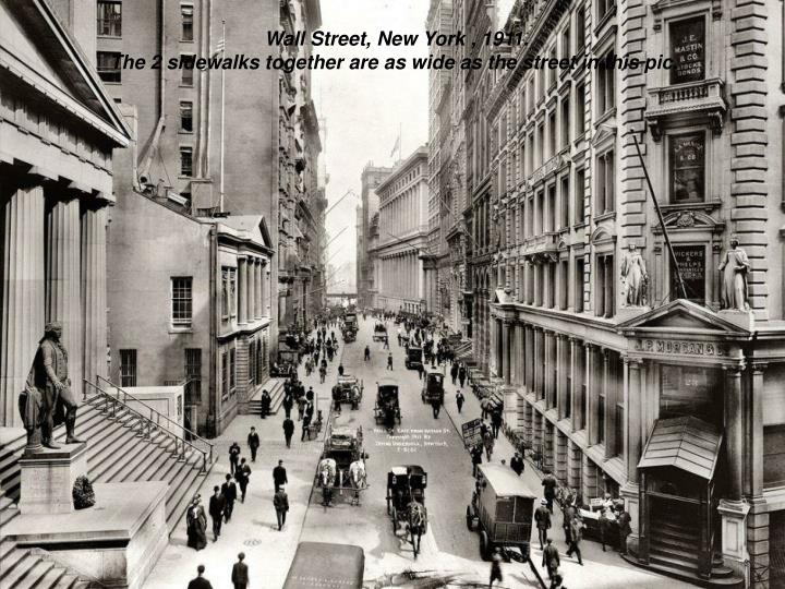 Wall Street, New York , 1911.