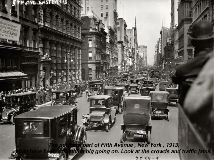 The northern part of Fifth Avenue , New York , 1913.