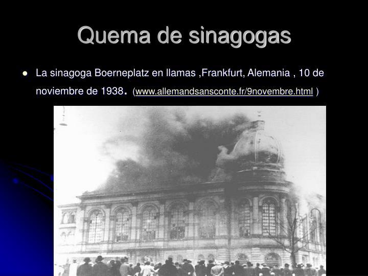 Quema de sinagogas