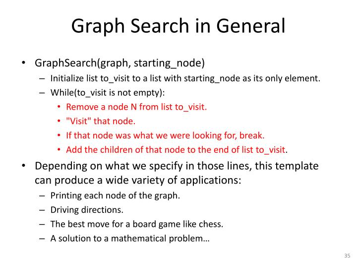 Graph Search in