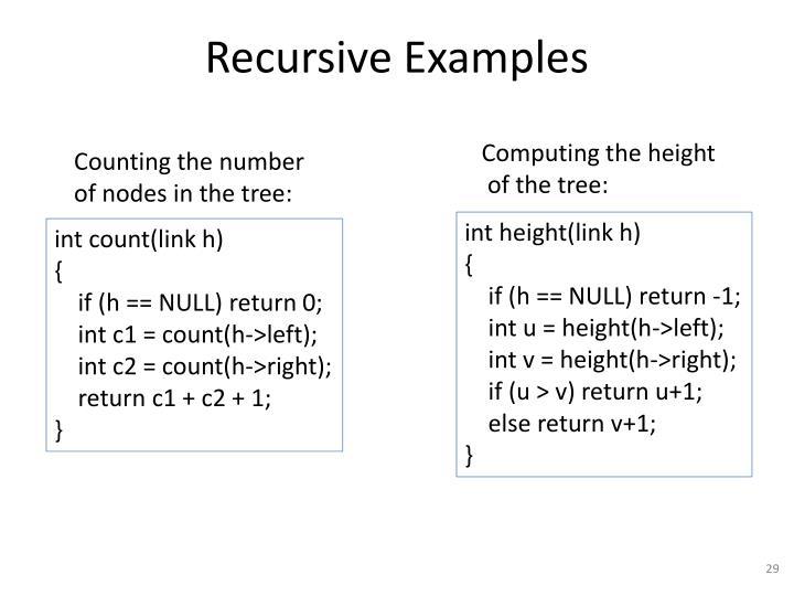 Recursive Examples
