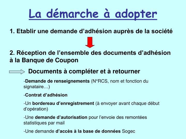 La démarche à adopter