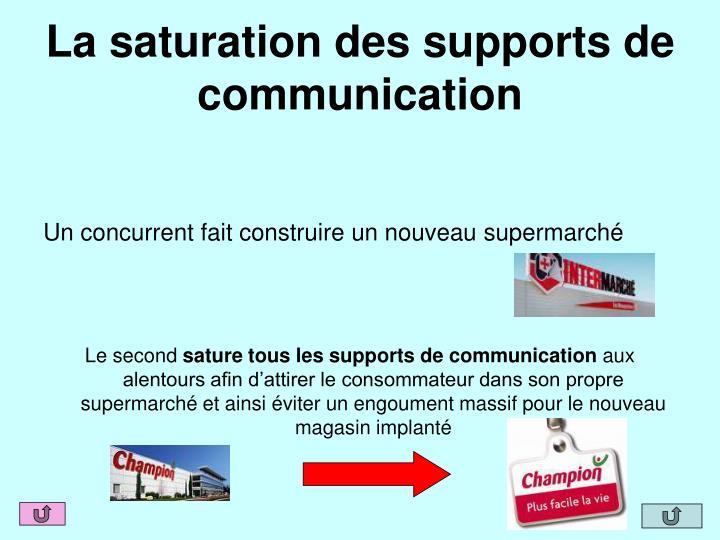 La saturation des supports de communication