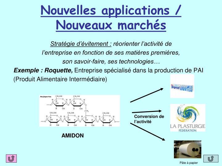 Nouvelles applications /