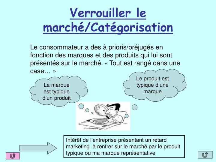 Verrouiller le marché/Catégorisation