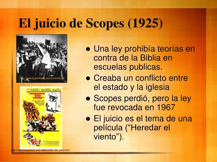 El juicio de Scopes (1925)