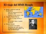 el viaje del hms beagle