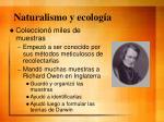 naturalismo y ecolog a