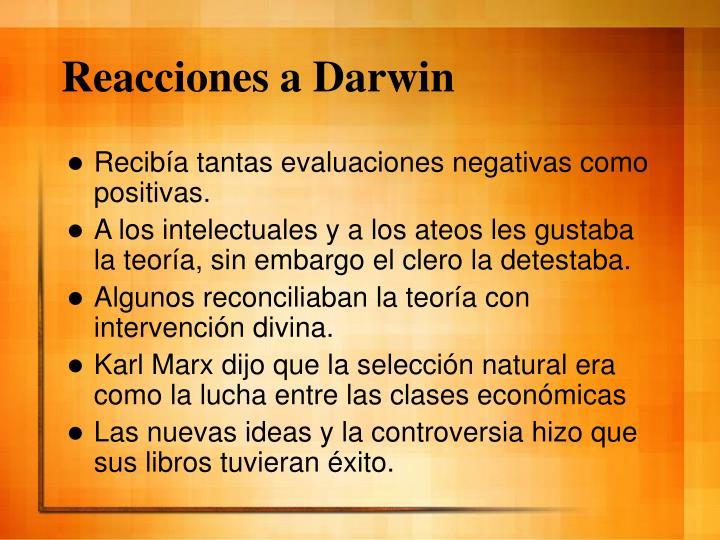 Reacciones a Darwin