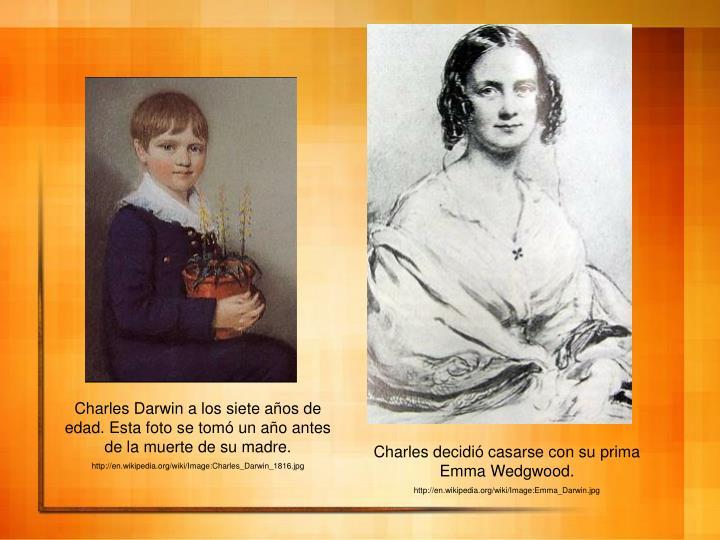 Charles Darwin a los siete años de edad. Esta foto se tomó un año antes de la muerte de su madre.