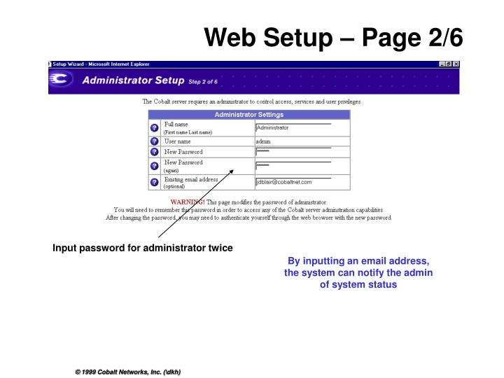 Input password for administrator twice