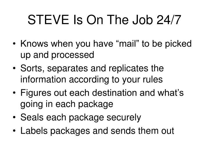 STEVE Is On The Job 24/7