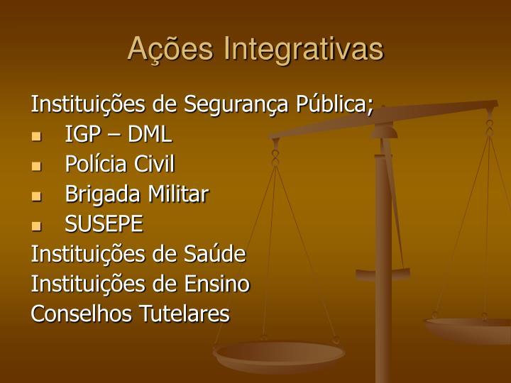 Ações Integrativas