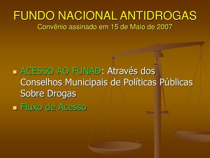 FUNDO NACIONAL ANTIDROGAS