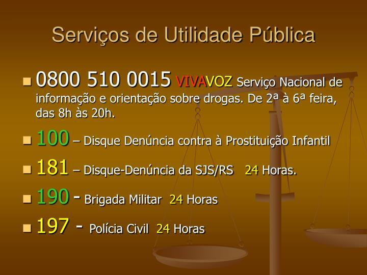 Serviços de Utilidade Pública