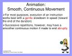 animation smooth continuous movement