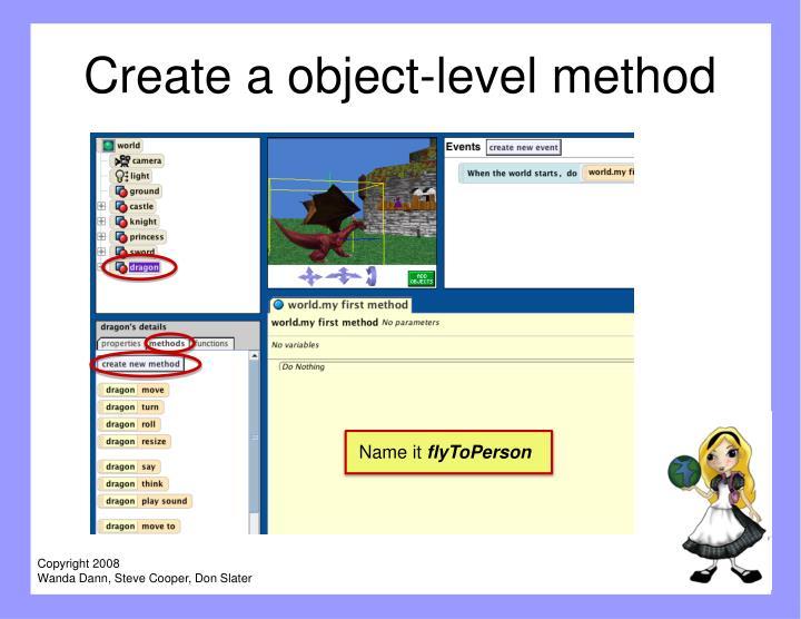 Create a object-level method