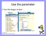 use the parameter