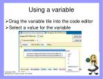 using a variable