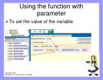 using the function with parameter