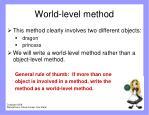 world level method