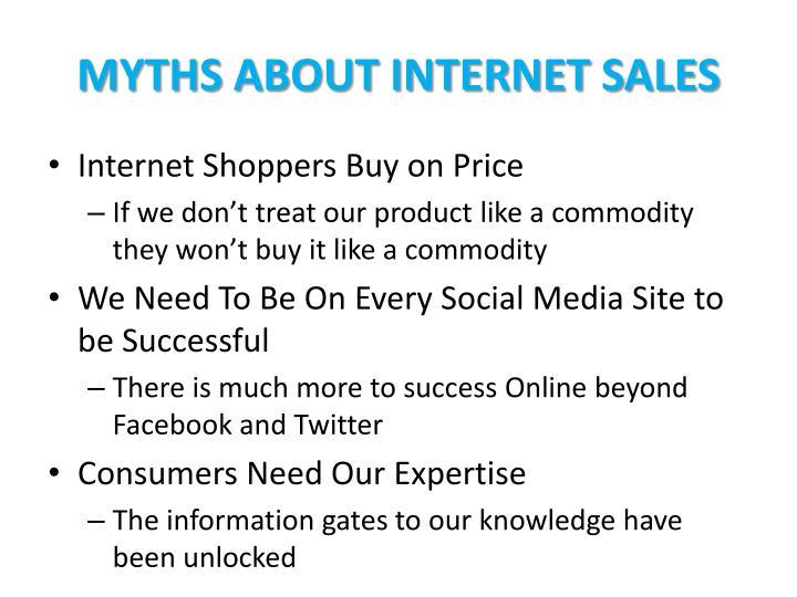 Myths About Internet Sales