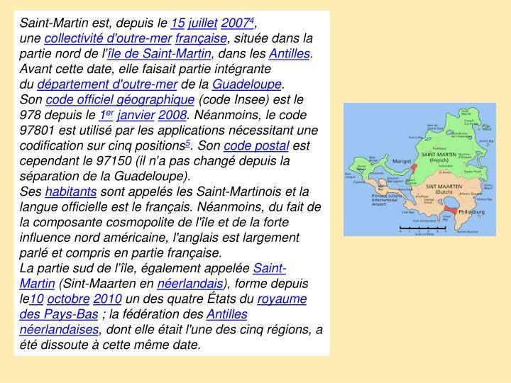 Saint-Martinest, depuis le
