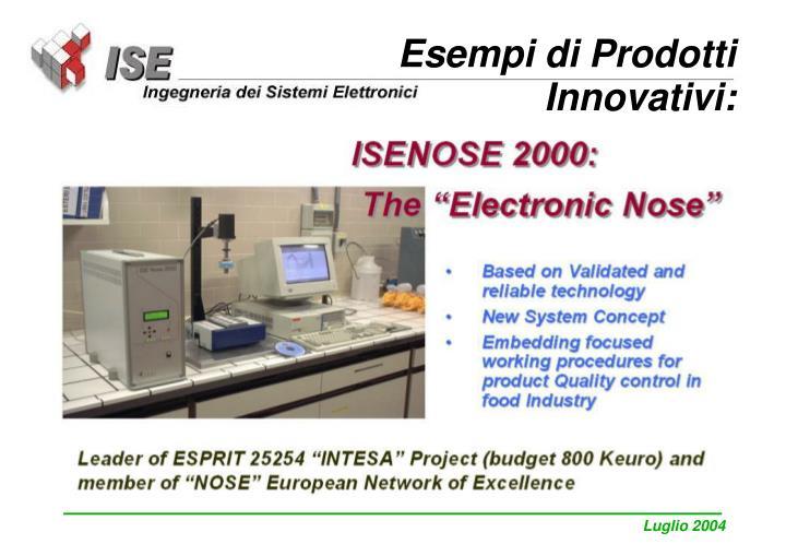 Esempi di Prodotti Innovativi:
