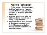 assistive technology policy and procedures