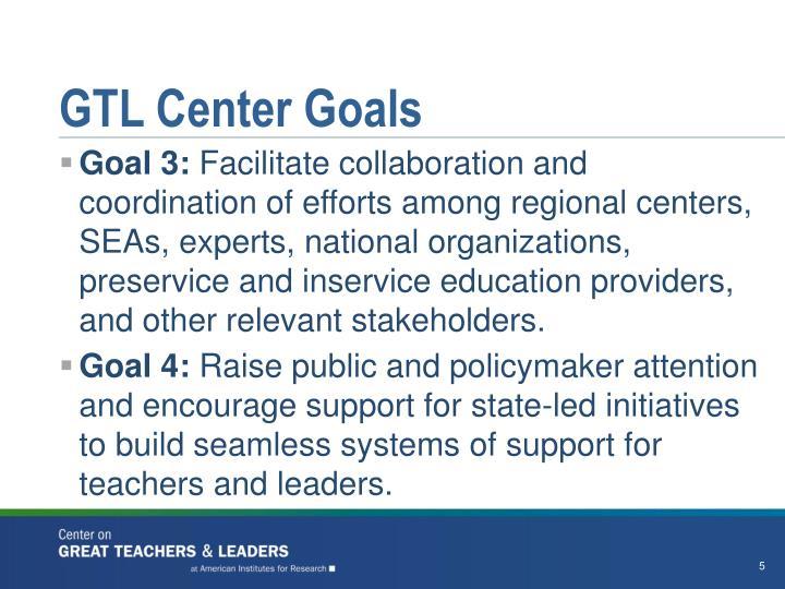 GTL Center Goals