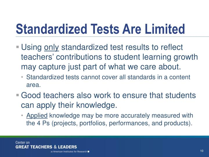 Standardized Tests Are Limited