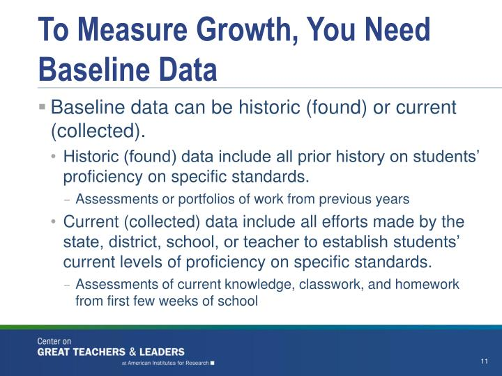 To Measure Growth, You Need Baseline Data