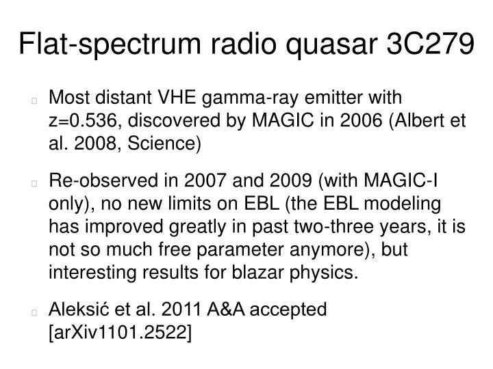 Flat-spectrum radio quasar 3C279