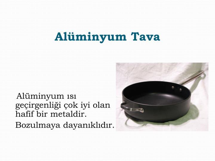Alüminyum Tava