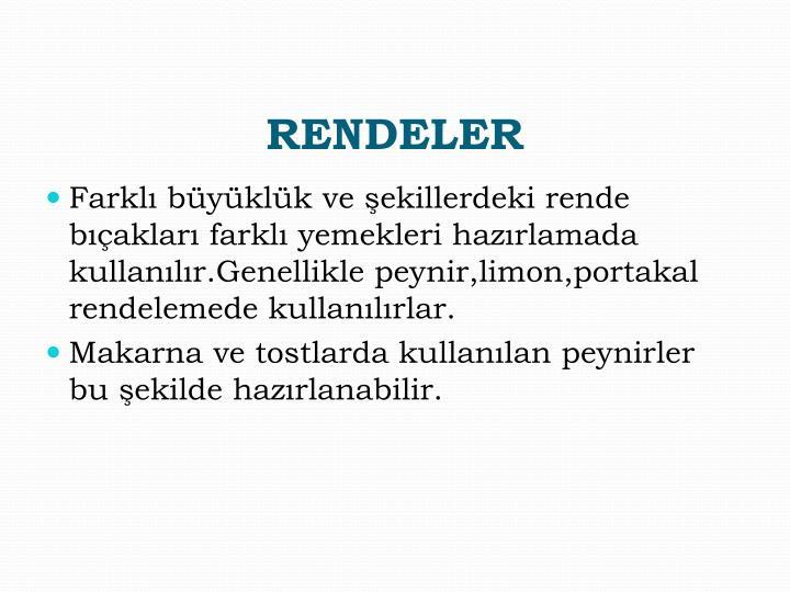 RENDELER