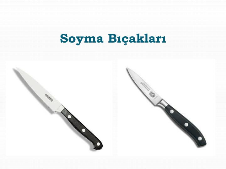 Soyma Bıçakları