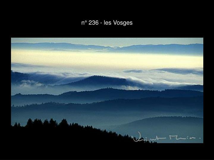 n° 236 - les Vosges