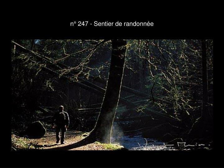n° 247 - Sentier de randonnée