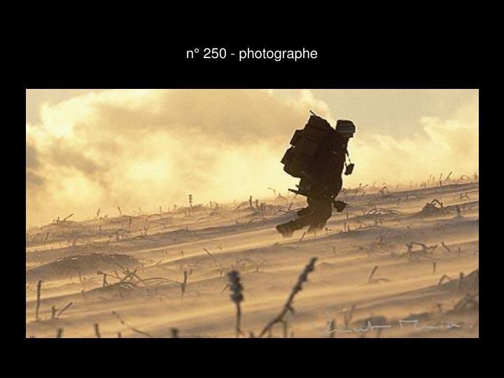 n° 250 - photographe