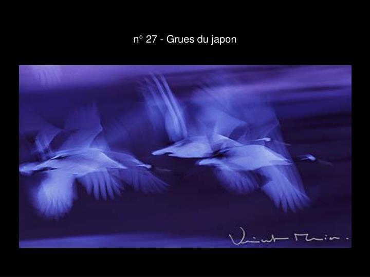n° 27 - Grues du japon