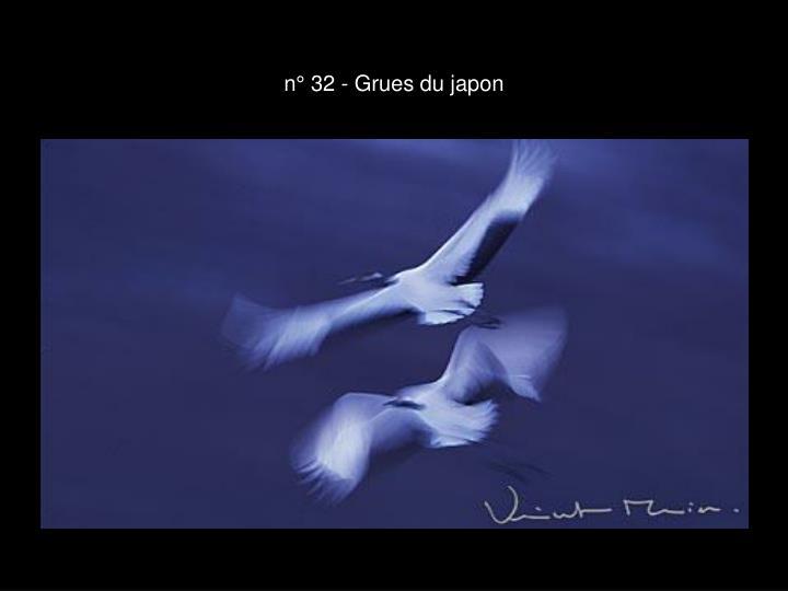 n° 32 - Grues du japon