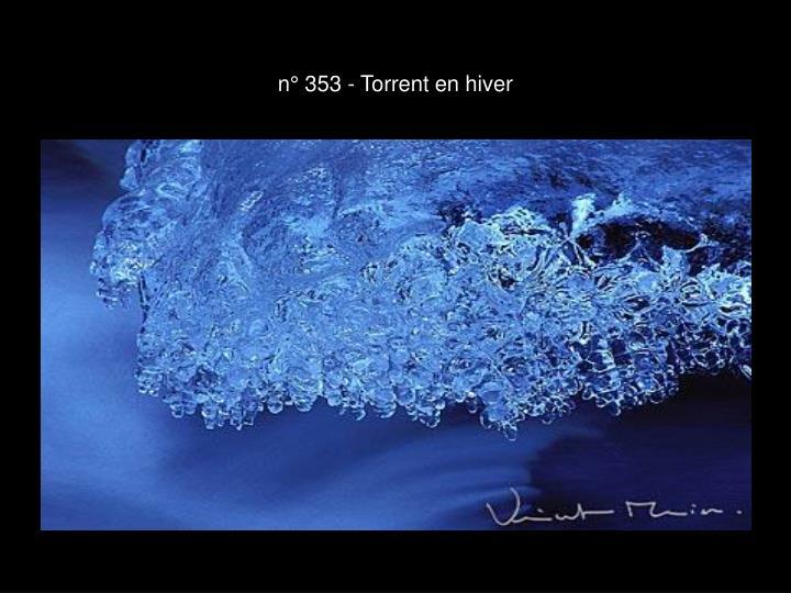 n° 353 - Torrent en hiver