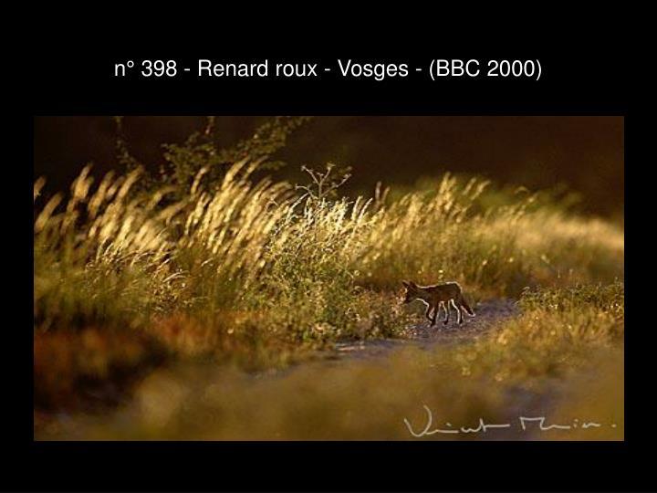 n° 398 - Renard roux - Vosges - (BBC 2000)