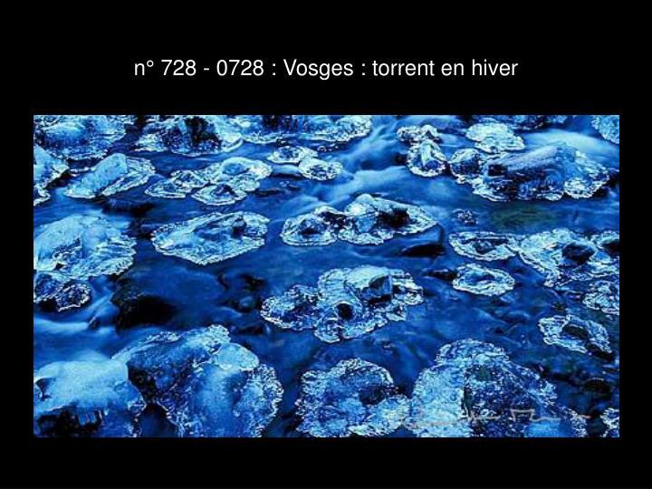n° 728 - 0728 : Vosges : torrent en hiver