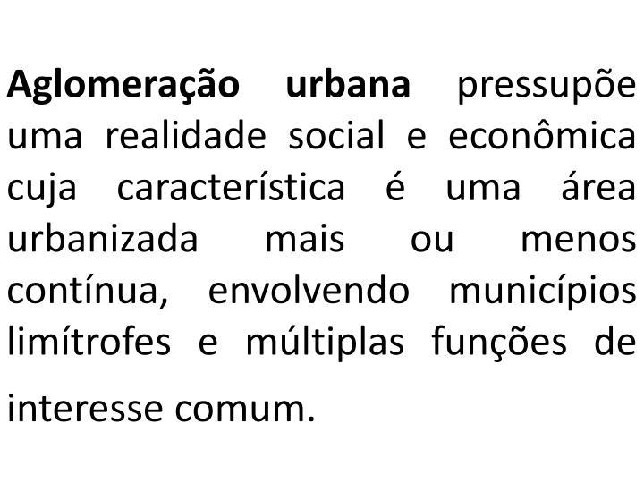 Aglomeração urbana