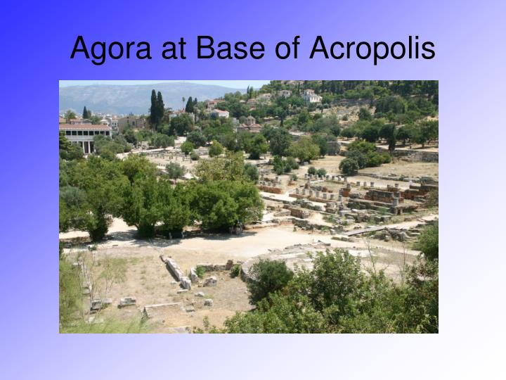 Agora at Base of Acropolis