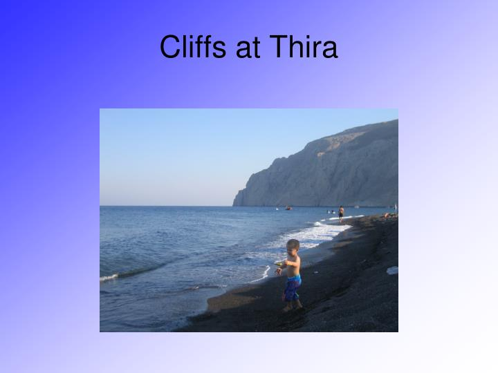 Cliffs at Thira