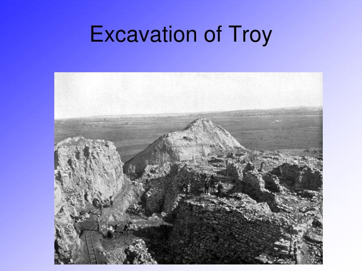 Excavation of Troy