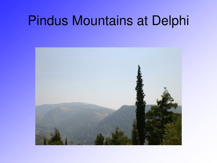 Pindus Mountains at Delphi